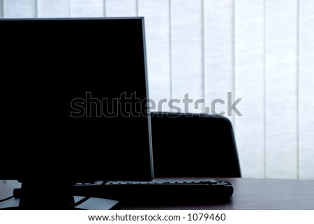 Computer in the office - stock photo