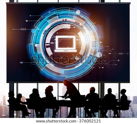 Computer Information Technology Connection Concept - stock photo