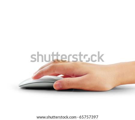 computer it hand - stock photo