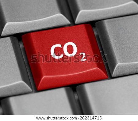 Computer key - CO2 - stock photo