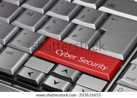 Computer key - Cyber security - stock photo
