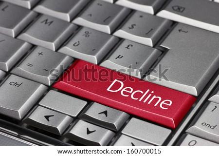 Computer key - Decline - stock photo