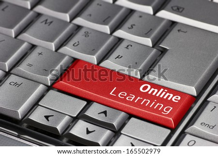 Computer Key - Online Learning - stock photo