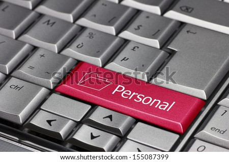 Computer key - personal - stock photo