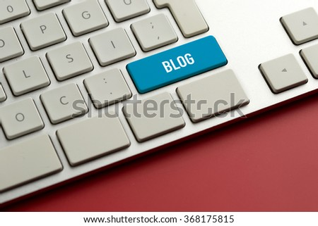 Computer key showing the word BLOG - stock photo