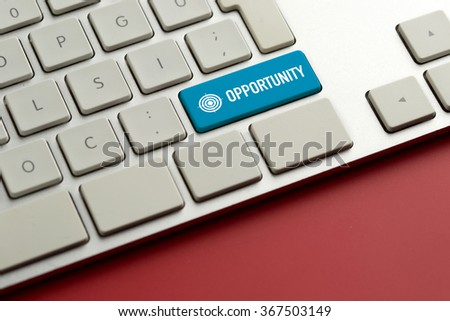 Computer key showing the word OPPORTUNITY - stock photo