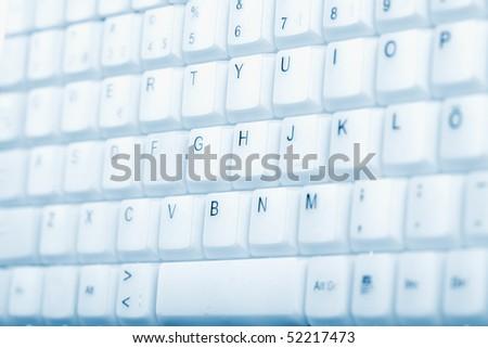 computer keyboard - stock photo