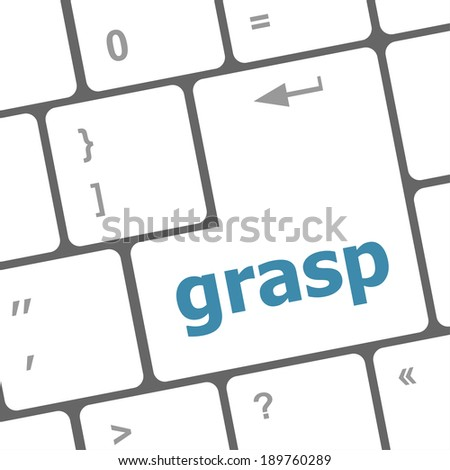 Computer keyboard button with grasp button, computer keyboard button