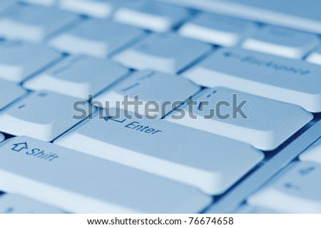 computer keyboard close-up - stock photo