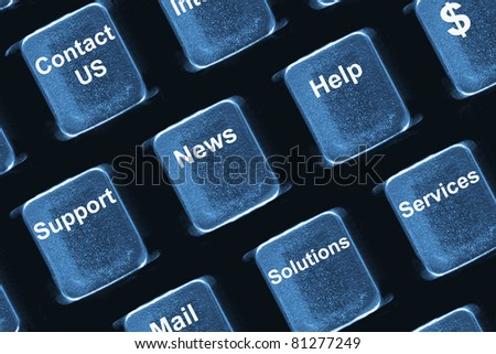 Computer keyboard concept - buttons with prefer business operations - stock photo