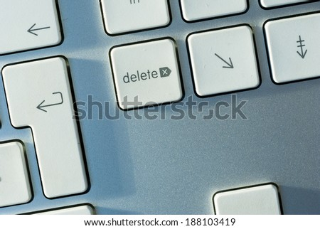 computer keyboard detail, top view - stock photo
