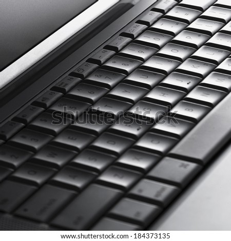 Computer keyboard in close