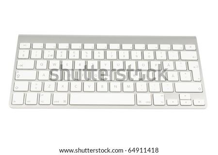 Computer keyboard isolated on white background - stock photo