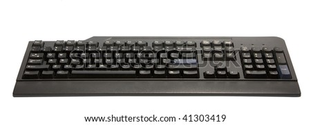 computer keyboard  isolated on white with clipping path