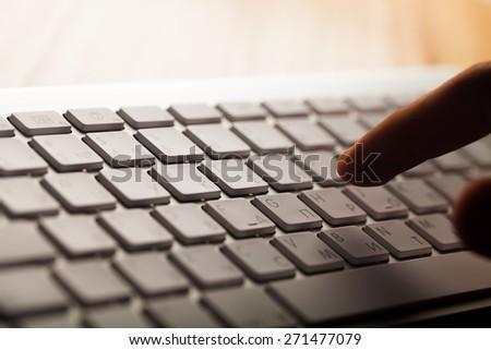 Computer Keyboard, Log On, Secretary. - stock photo