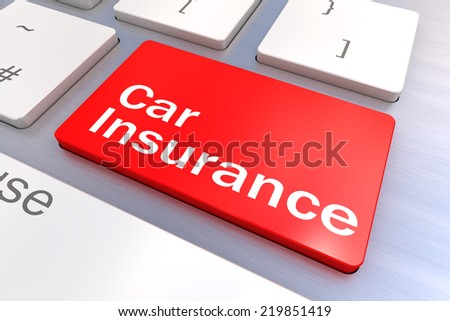 Computer keyboard rendered illustration with a Car Insurance Button Concept - stock photo