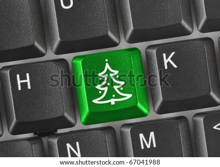 Computer Christmas Key Keyboard Stock Images, Royalty-Free Images ...