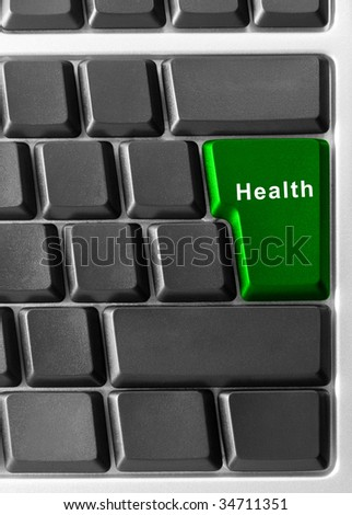 computer keyboard with health button