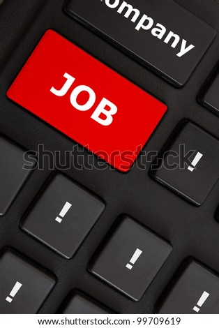 Computer keyboard with job button
