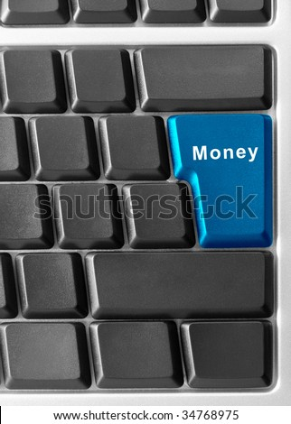 computer keyboard with money button