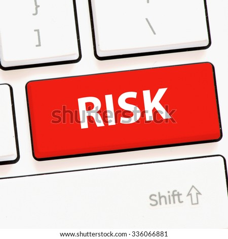Computer keyboard with risk