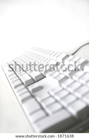 computer keyboard with white background - stock photo