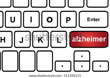 Computer keyboard with word alzheimer. - stock photo