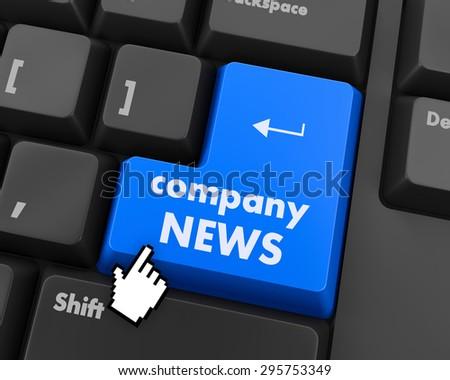 computer keyboard with word Company News - stock photo