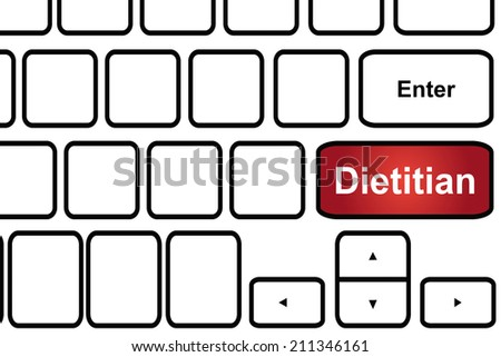 Computer keyboard with word dietitian. - stock photo