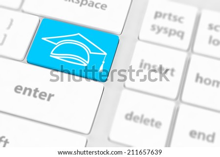 computer keyboard with word Education