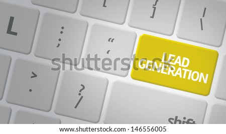 Computer keyboard with word Lead Generation - stock photo