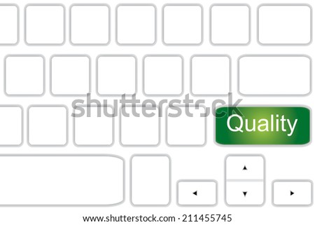 Computer keyboard with word  Quality . - stock photo