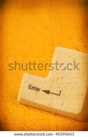 Computer keys - stock photo