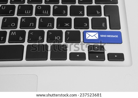 Computer keys concept of internet social networking - stock photo