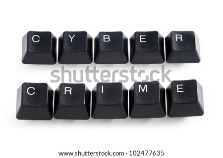 computer keys spelling cyber crime - stock photo