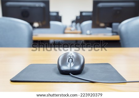Computer Lab,Neatly placed  - stock photo