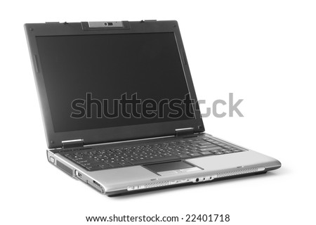computer. laptop isolated on white