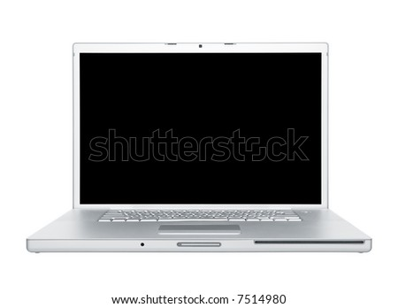 computer laptop isolated on white background
