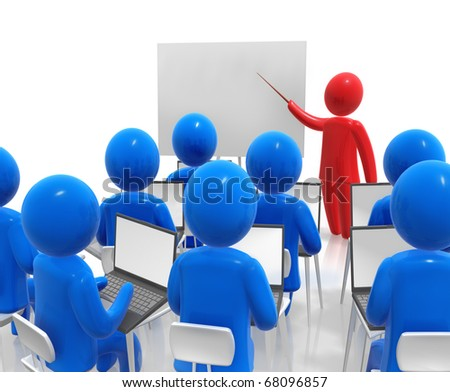 Computer learning - stock photo