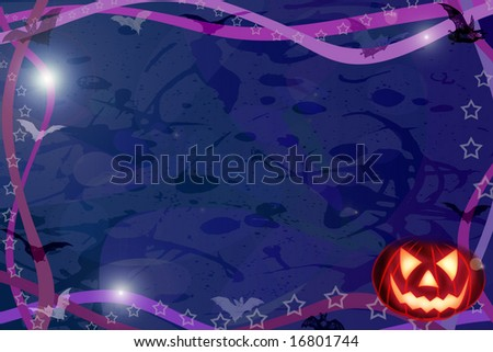 Computer made illustration of an Halloween dark background
