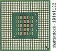 Computer micro processor - stock photo