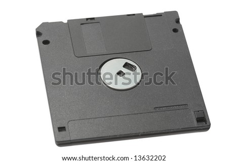 Computer microdisk isolated over white