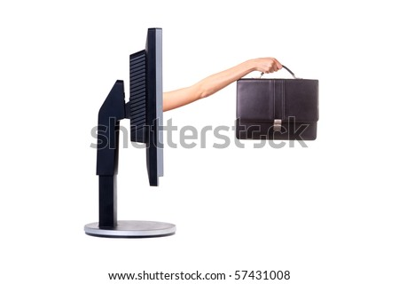 Computer monitor. Concept. Isolated on white.