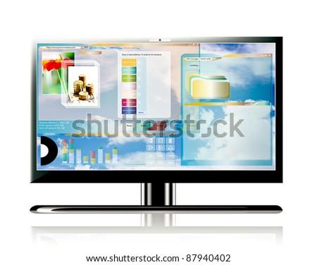 Computer monitor display - stock photo