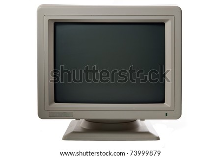 computer monitor isolated - stock photo