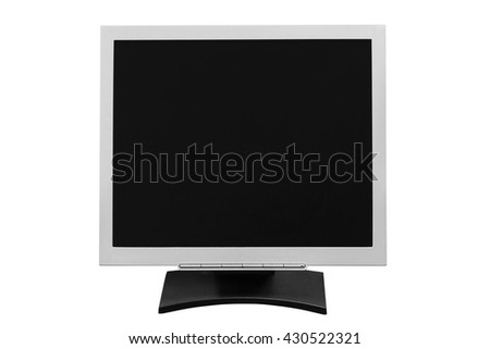 computer monitor isolated on white background