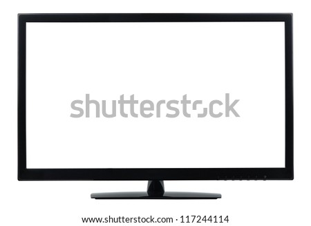Computer monitor isolated on white, clipping path