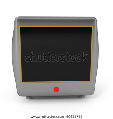 Computer Monitor isolated on white - 3d illustration