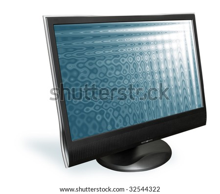 computer monitor on a white background - stock photo