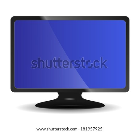 Computer monitor on white